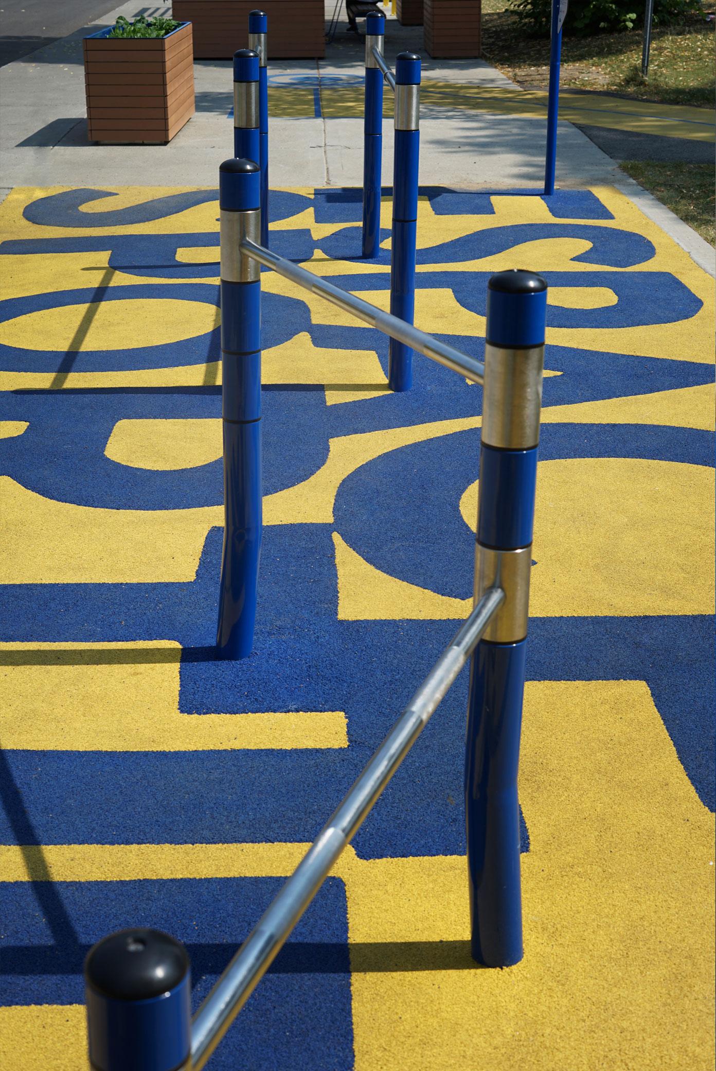 Extérieur parc sport hommes obstacles